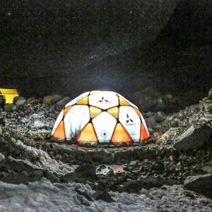 Comfortable Base Camp with domes