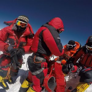 Mountain Pros team on the Summit of Everest