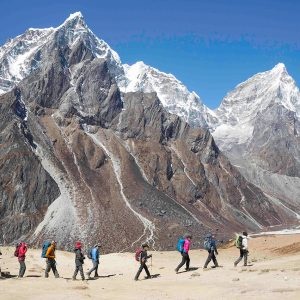 Trekking to base camp