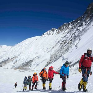 Climbing toward the Lhotse Face
