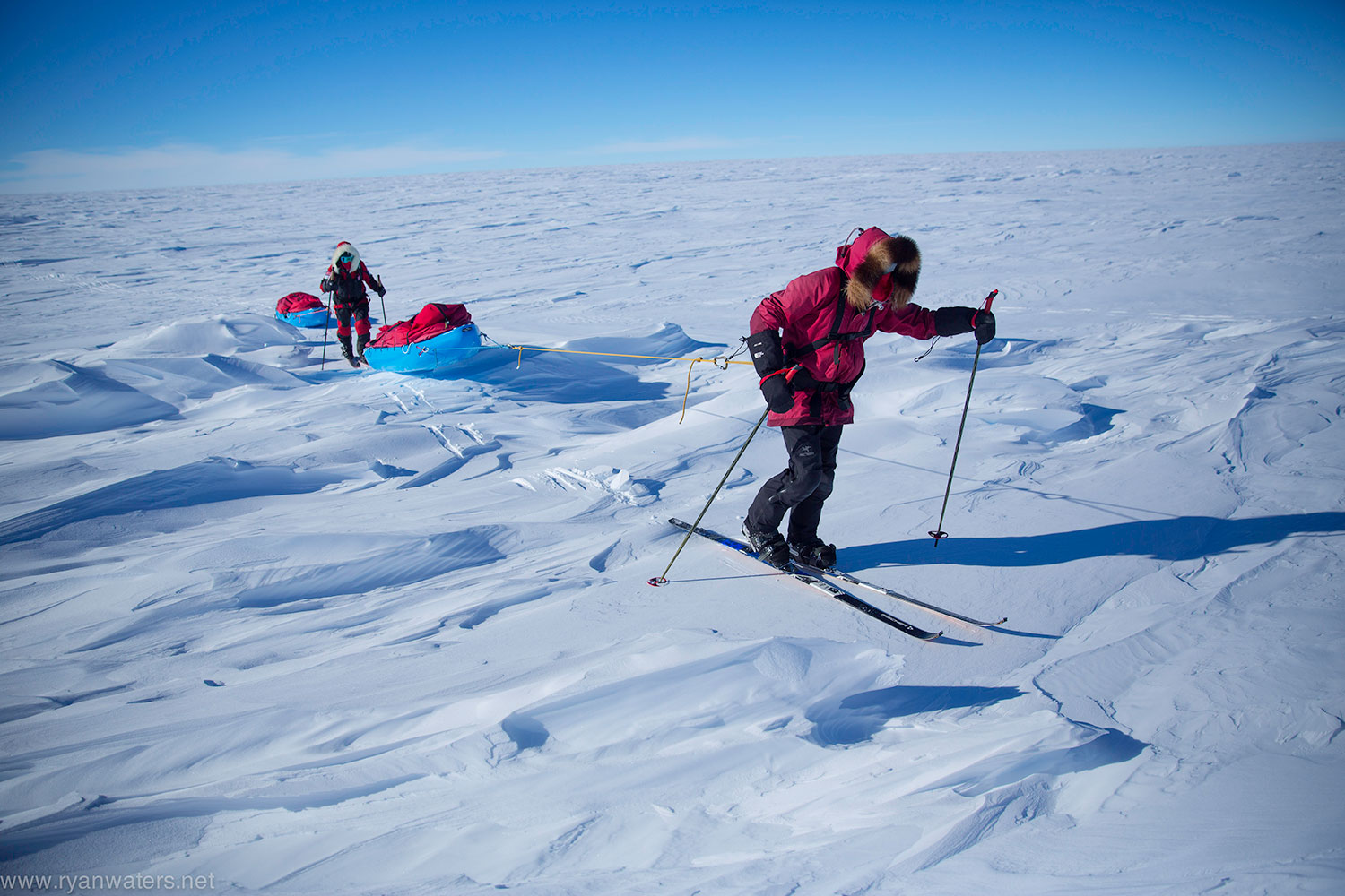 south pole full ski trip with mountain professionals