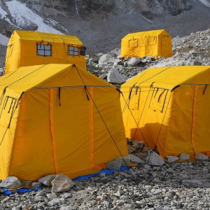 Each climber's personal base camp tents