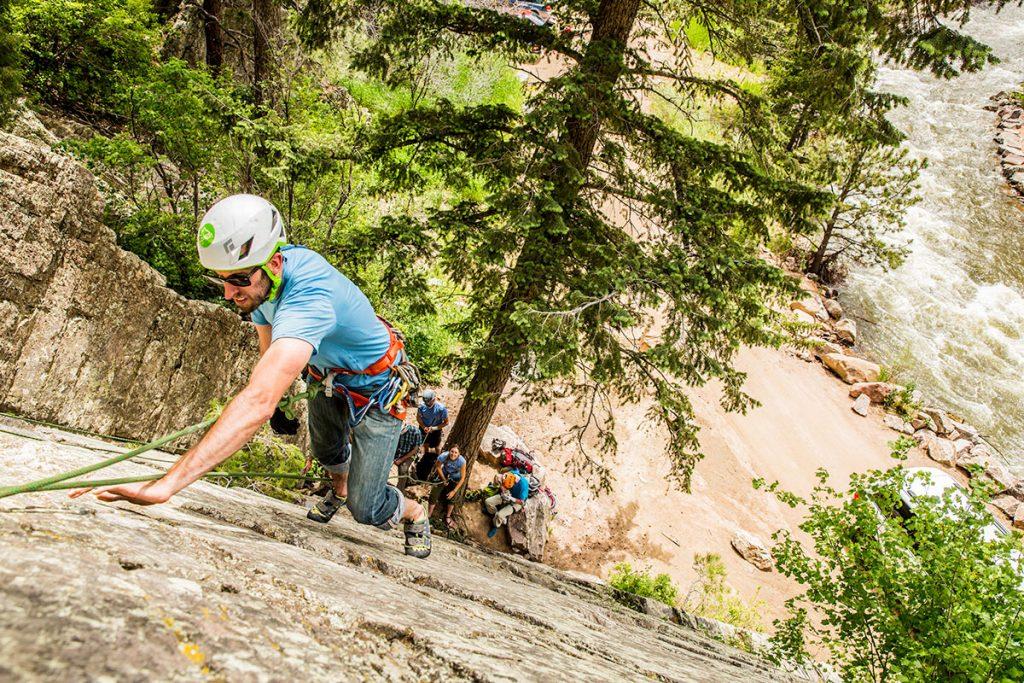 boulder rock climbing
