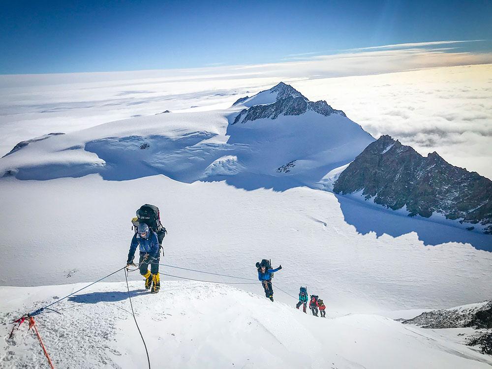 high mountain traverse