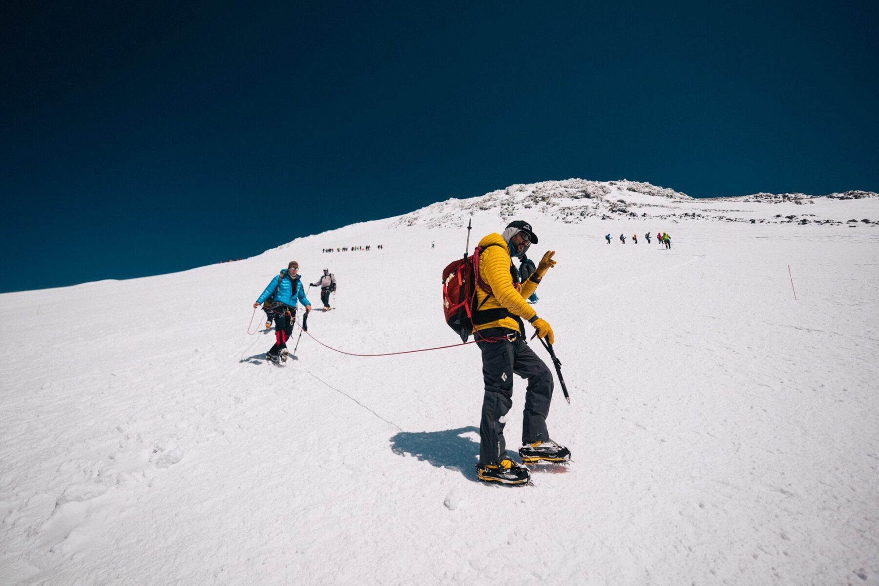 summit on the Mount Elbrus Climb