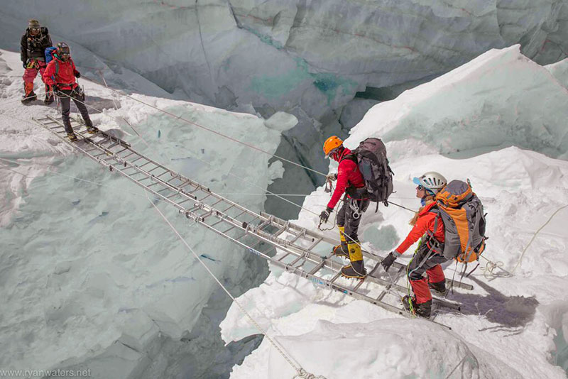 Lhotse Ice Fall Crossing