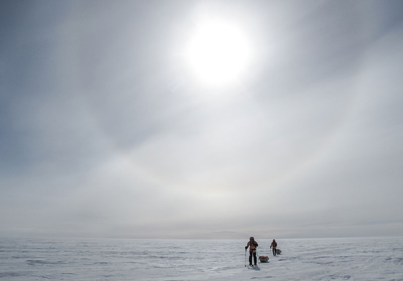 Ski to South Pole Last Degree